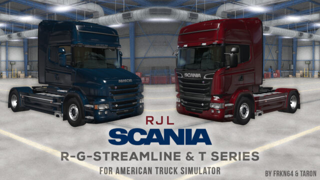 Read more about the article RJL SCANIA R, G, Streamline & T Mod v1.1 for ATS