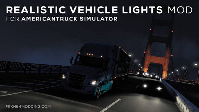 Read more about the article Realistic Vehicle Lights Mod v7.0 for ATS