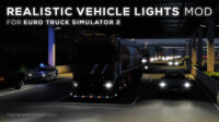 Realistic Vehicle Lights Mod v7.0 for ETS 2