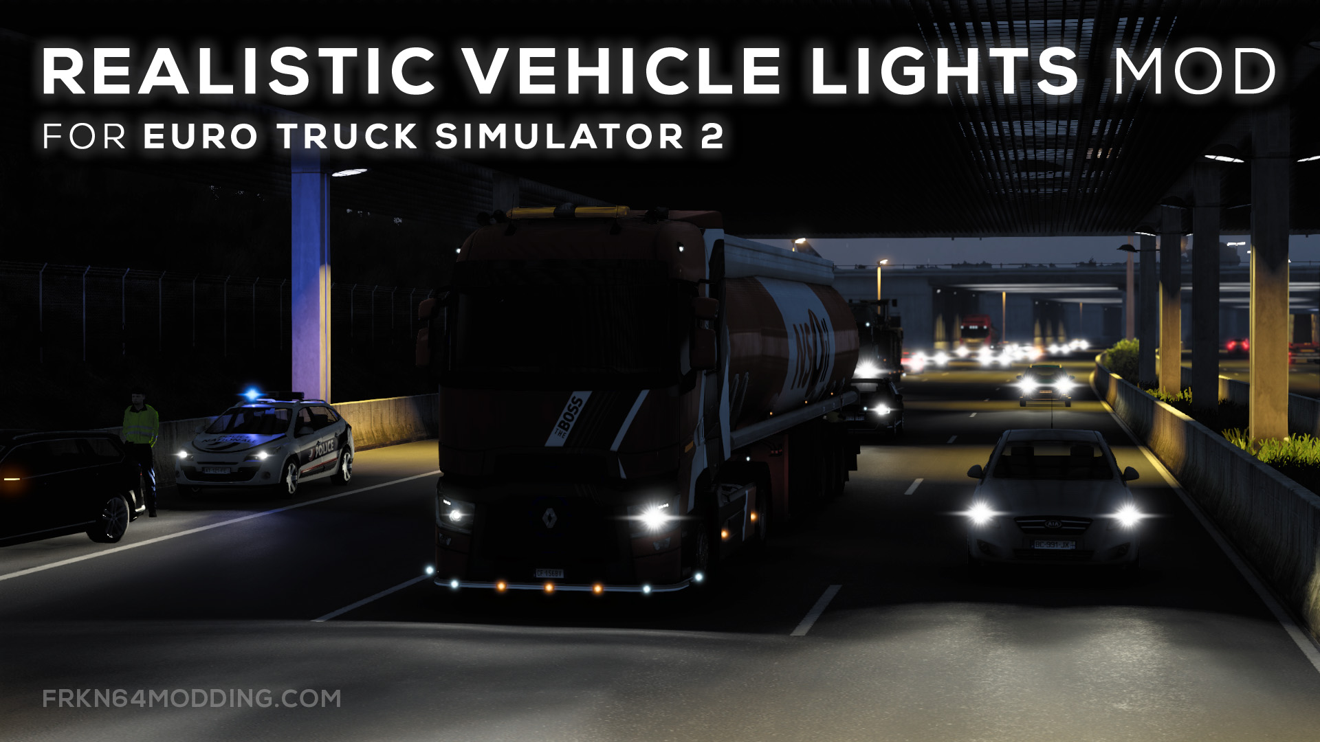 Realistic Vehicle Lights Mod v7.0 for ETS 2