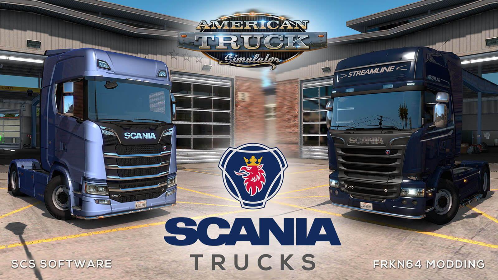 SCANIA Trucks Mod v4.3 for ATS