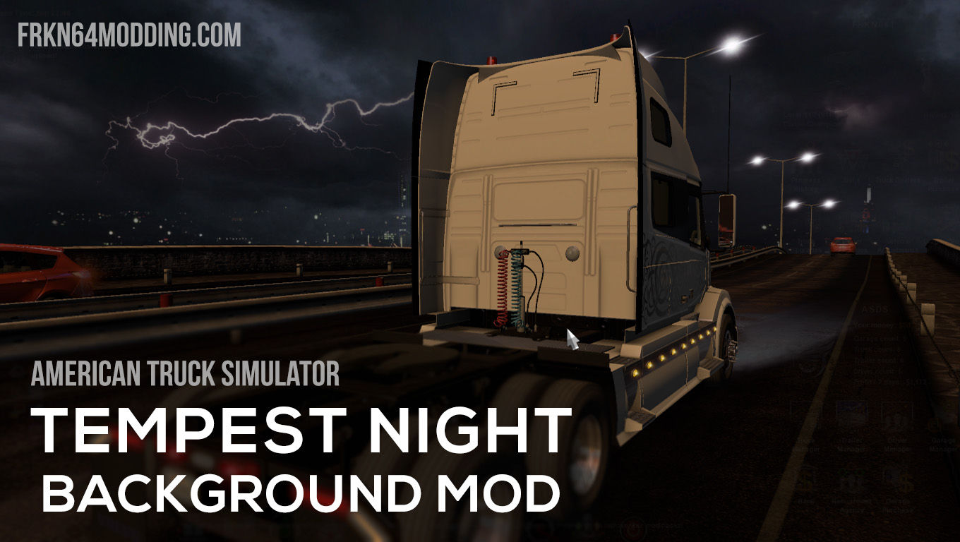 Tempest Night Background Mod v1.3 for ATS