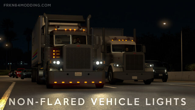 Read more about the article Non-Flared Vehicle Lights Mod v5.0 for ATS