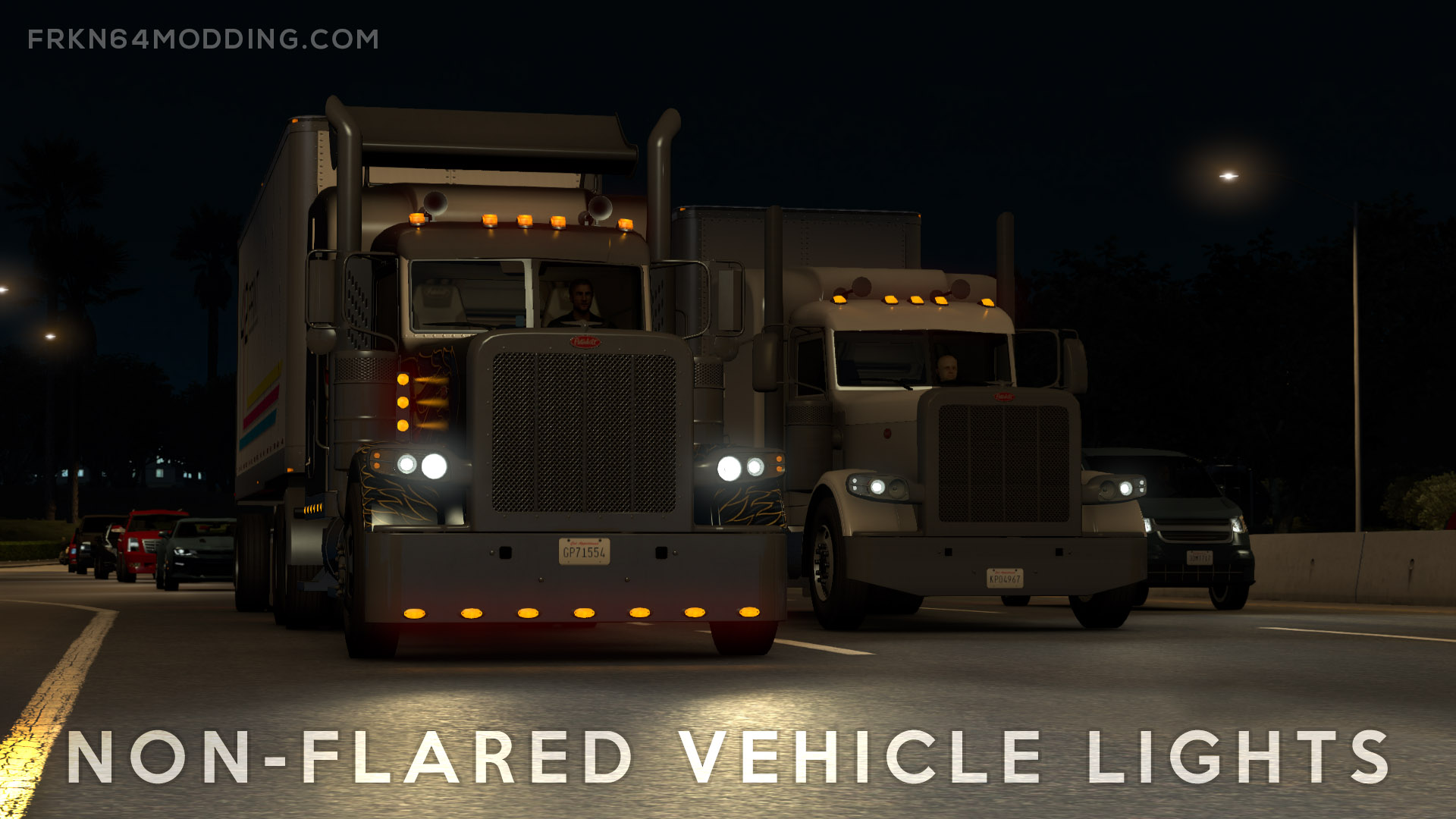 Non-Flared Vehicle Lights Mod v4.1 for ATS