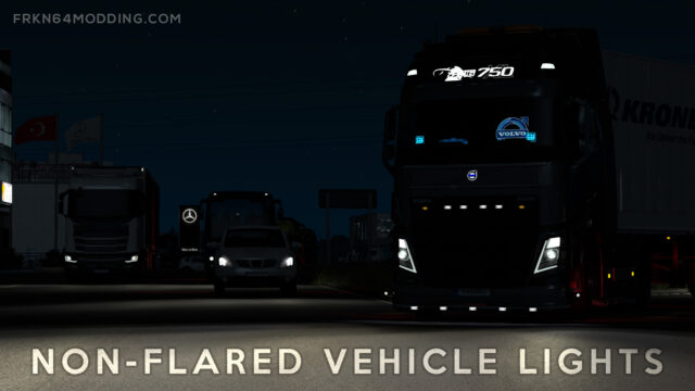 Read more about the article Non-Flared Vehicle Lights Mod v5.0 for ETS 2