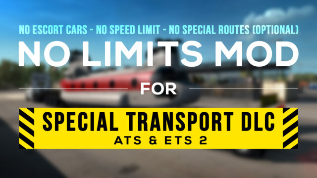 Read more about the article No Limits Mod v1.3 for Special Transport DLC [ATS]